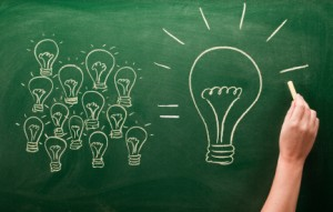 the more little ideas you generate, the better the big idea